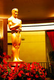 Oscars at Dolby Theater. A giant Oscar statue stands in the lobby of the Dloby Theater, the host venue for the Academy Awards royalty free stock photo