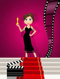 Oscars nominations red carpet. Cute illustration of Oscars nominations red carpet Stock Image