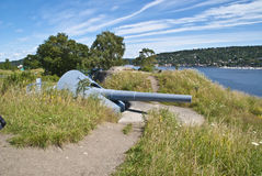 Oscarsborg fortress (cannon) Royalty Free Stock Photo