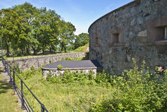 Oscarsborg fortress (defensive walls) Royalty Free Stock Photography