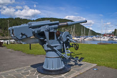 Oscarsborg fortress (german anti-aircraft gun) Stock Photography