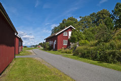 Oscarsborg fortress (red house) Royalty Free Stock Photography