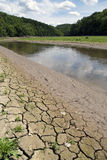 Oschłość, suszarnicza rzeka Fotografia Royalty Free