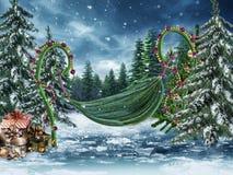 Oscilación de hadas con las luces de la Navidad libre illustration