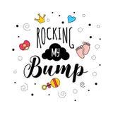 Oscilación de mis letras de la cita del embarazo de la madre del bamp libre illustration