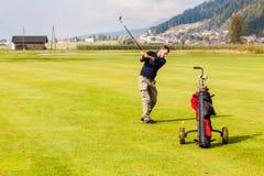 Oscilación del golf Imágenes de archivo libres de regalías