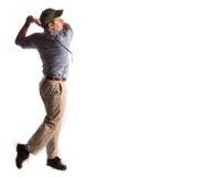 Oscilación del golf aislado en blanco Fotos de archivo