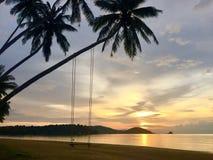 Oscilación en la isla KOH-Mak Fotografía de archivo
