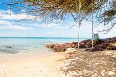 Oscilación en la playa Fotografía de archivo libre de regalías