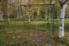 Oscilación en parque del otoño Fotos de archivo