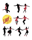 Oscilación de baile de la gente joven o salto lindy Fotografía de archivo libre de regalías