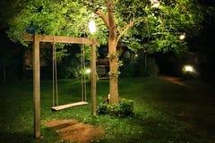Oscilación de madera Foto de archivo libre de regalías