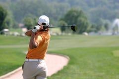 Oscilación del golf de la señora Foto de archivo