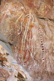 Oscile el arte en Ubirr, parque nacional del kakadu, Australia Fotografía de archivo