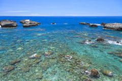 Oscile el océano azul profundo Fotografía de archivo