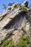 Oscile en cara de la montaña Fotos de archivo libres de regalías