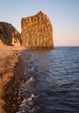 Oscile la vela en el Mar Negro en la luz de la tarde Fotografía de archivo