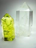 Oscile los cristales geológicos ctystal de la geoda del cuarzo y del citrine imagen de archivo libre de regalías
