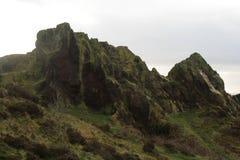 Oscile los picos cerca siegan el castillo del poli, Alimentar-en-Trent fotos de archivo libres de regalías