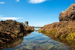 Oscilla la linea costiera Fotografia Stock