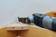 Oscillating multi-function power tool Royalty Free Stock Photography