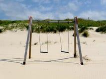 Oscillation à la plage Photographie stock