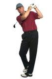 Oscillation d'entraînement de golfeur Image libre de droits