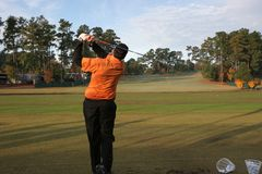 Oscillation dans le golf est de lac Photographie stock libre de droits