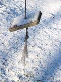 Oscillation de battu par le vent dans la neige Images stock