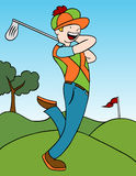 Oscillation de golf Photo libre de droits