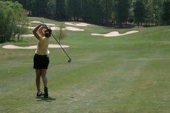 Oscillation de golf de Madame Photos stock
