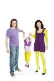 Oscillation de père et de mère par le descendant de mains Image libre de droits