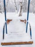 Oscillations couvertes de neige Photographie stock