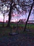 Oscillations et couchers du soleil image libre de droits