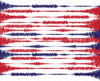 Oscillations. Vector illustration on the theme of seismic activity, oscillations and waves Stock Image