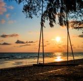 Oscillazione alla spiaggia Fotografia Stock