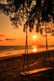 Oscillazione alla spiaggia Fotografie Stock