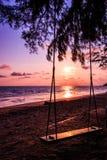 Oscillazione alla spiaggia Fotografia Stock Libera da Diritti