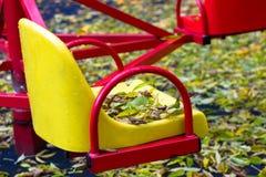 Oscillazione in autunno Fotografie Stock Libere da Diritti
