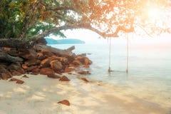 Oscillazione del sole della spiaggia Fotografia Stock Libera da Diritti