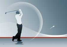 Oscillazione di golf Immagine Stock
