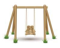 Oscillazione di legno Immagini Stock Libere da Diritti