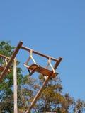 Oscillazione di legno sul cielo a Pai, Tailandia Fotografie Stock Libere da Diritti