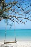 Oscillazione sulla spiaggia Fotografia Stock Libera da Diritti
