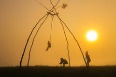 Oscillazioni tribali Fotografie Stock Libere da Diritti