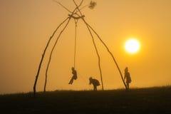 Oscillazioni tribali Fotografia Stock