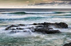 oscille la mer Images libres de droits