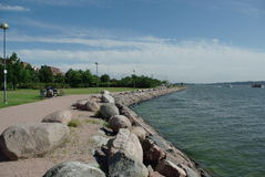 Oscille le seacost à Helsinki Image libre de droits