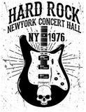 Oscilli il manifesto, rock-and-roll d'annata tipografico per la maglietta; T illustrazione di stock