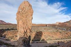 Oscilli il ` Teide del dito del ` sui precedenti del deserto Immagine Stock